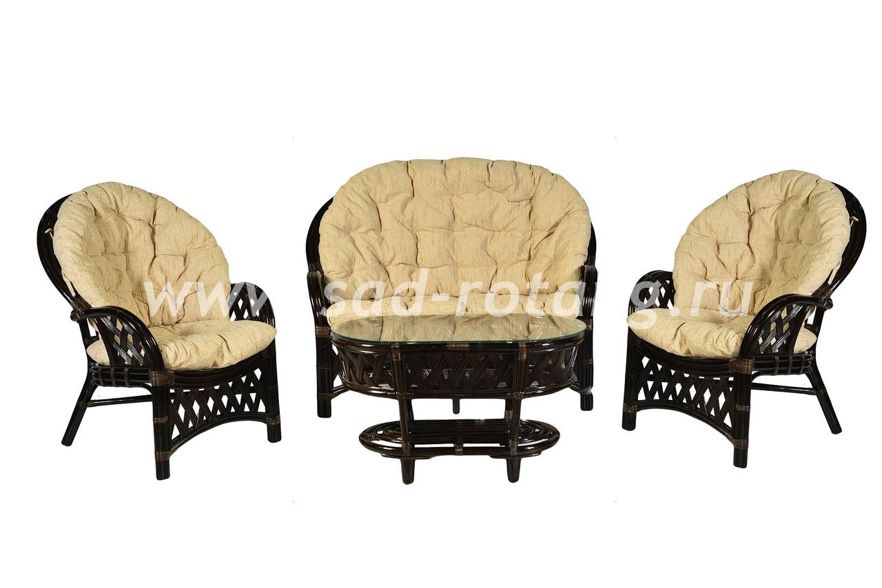 """Комплект мебели из ротанга """"Рузвельт"""" (венге)"""