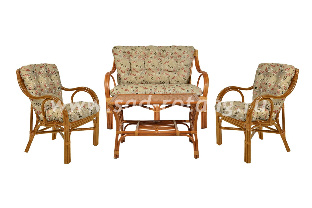 "Плетеный комплект мебели ""Макита"" (коньяк)"