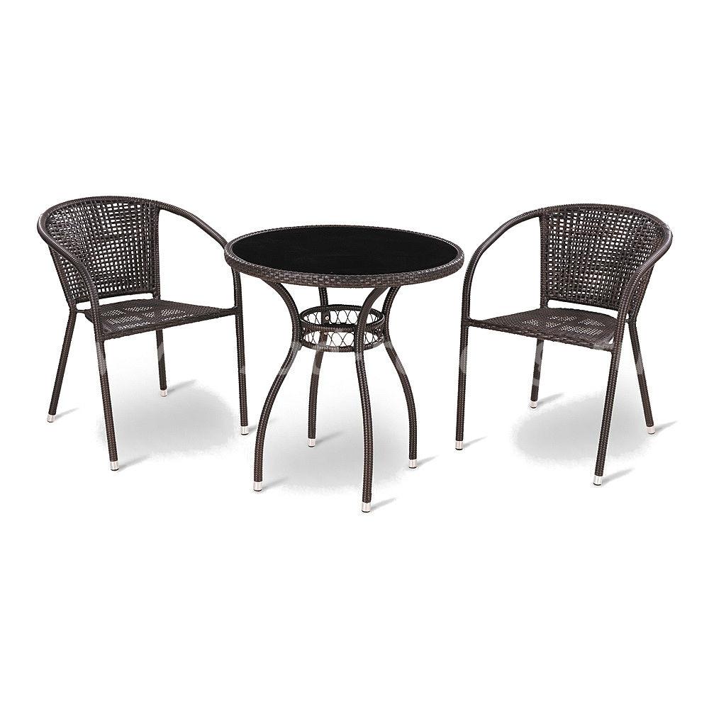 Комплект мебели из искусственного ротанга Milton-1цвет Темно-коричневый
