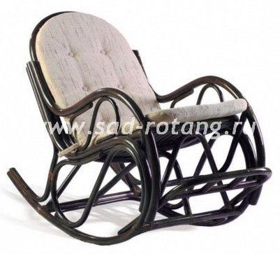 Кресло-качалка плетеное из ротанга с подножкой 05/17 (Венге)