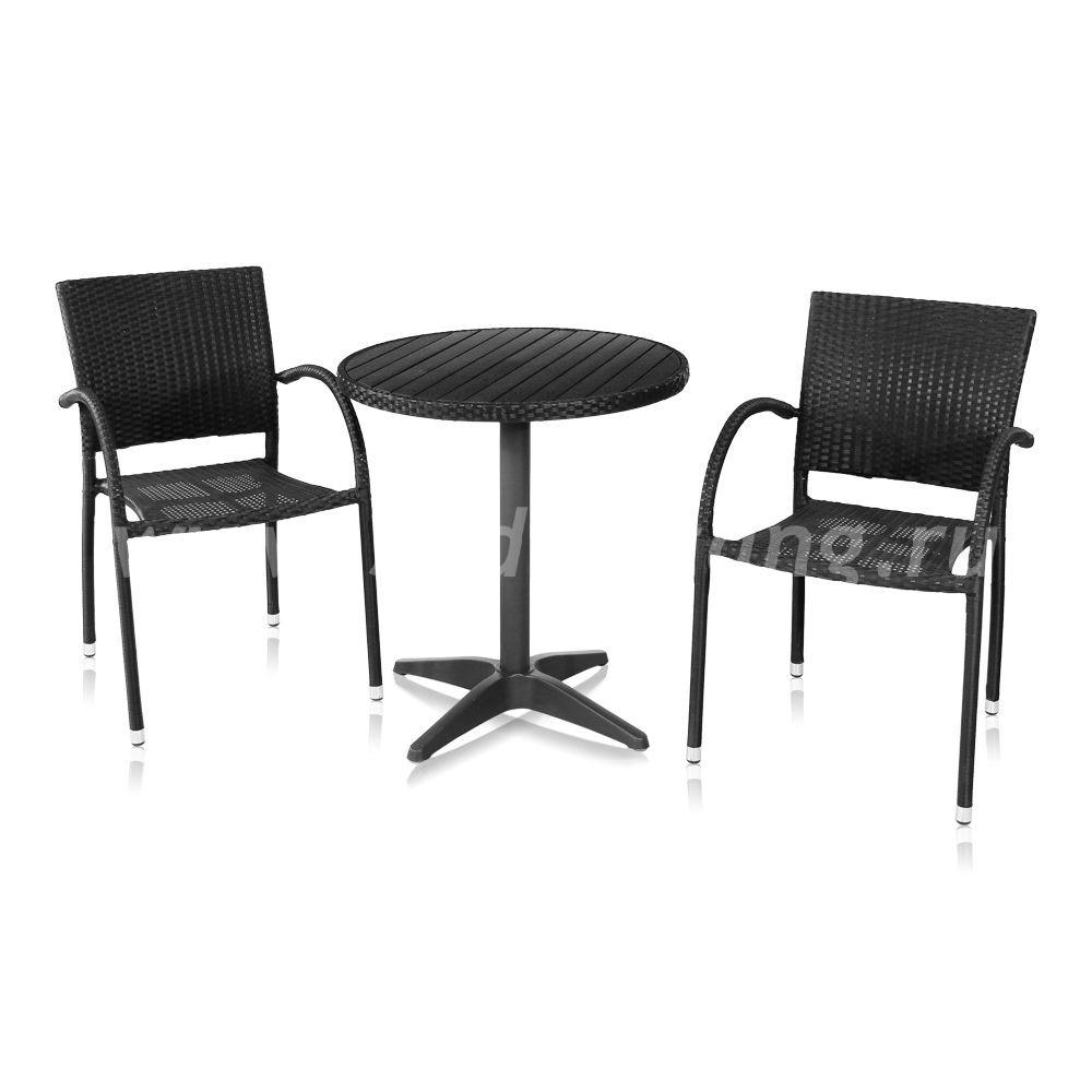Комплект мебели для терассы Siena-1 (черный)цвет Черный